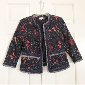 Loft Primavera floral fridge open jacket/blazer
